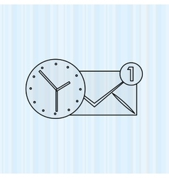 business time design vector image