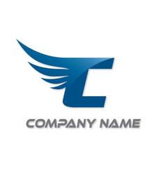 c wings logo vector image