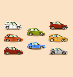 car set vehicle hatchback image toy vector image