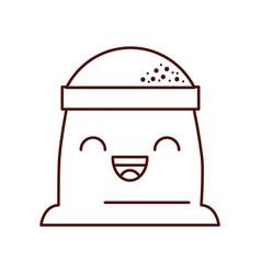 Cartoon sack flour bakery image vector