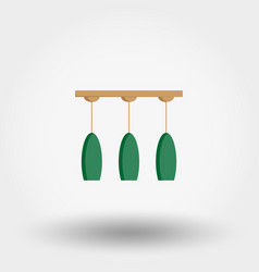 Chandelier ceiling lamp icon flat vector