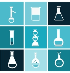 chemical test tube vector image