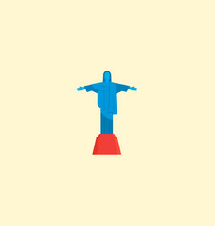 christ the redeemer icon flat element vector image