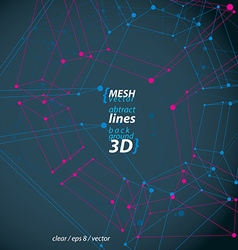Clear eps 8 engineering set of 3d mesh symb vector