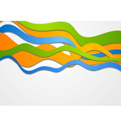 Colorful waves vector
