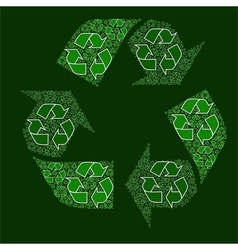 Composite recycling sign vector