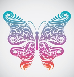 Decoration Butterfly Rainbow vector