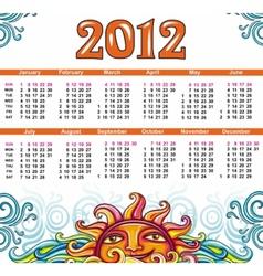 decorative calendar for 2012 vector image