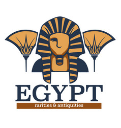 egypt rarities and antiquities ancient culture vector image