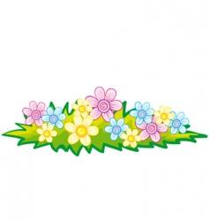 flowerbed vector image