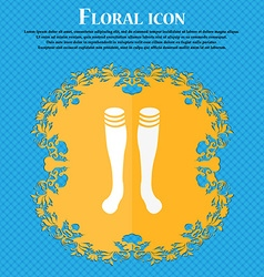Football gaites icon Floral flat design on a blue vector