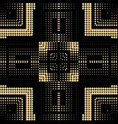 Halftone 3d squares seamless pattern plaid tartan vector