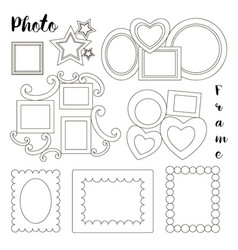 hand drawn photoframes vector image
