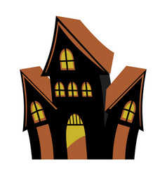 Horror castle architecture to mystery style vector
