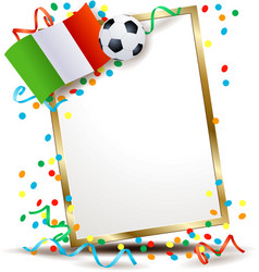Italian signboard soccer theme vector