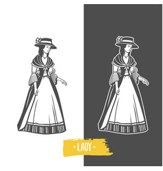 lady old fashion vector image