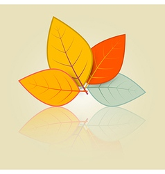 Leaves Set in Retro Style vector image