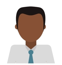 Man with shirt and tie vector