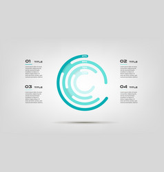 Maze circular chart color infographics step by vector