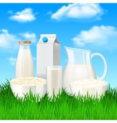 Milk Products vector