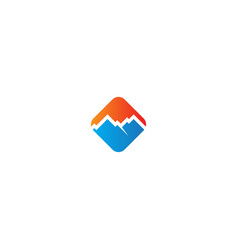 mountain sign logo vector image