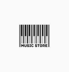 Music store logo vector