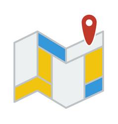 Navigation map icon vector
