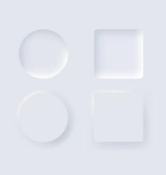 neumorphism design element set trendy interface vector image