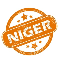 Niger grunge icon vector