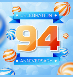 Ninety four years anniversary celebration design vector