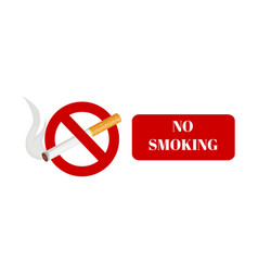 No smoking and smoking area labels with tobacco vector