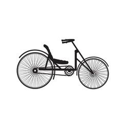 old vintage bike silhouette retro vector image