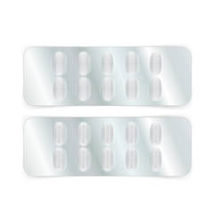 Oval Pills in Blister vector image