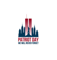 Patriot day card with twin towers vector
