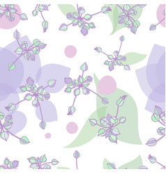 Pattern with graphic nature elements vector