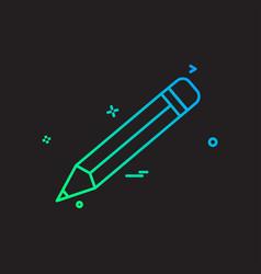 Pencil school icon design vector