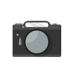 photo icon in flat style on a white background vector image