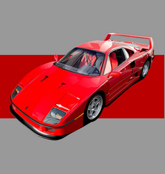 red supercar vector image