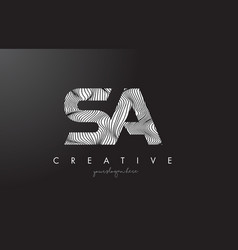 sa s a letter logo with zebra lines texture vector image