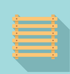 Sauna wood frame icon flat style vector