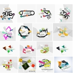 Set of various geometric abstract infographic vector image