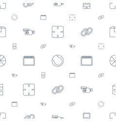 Single icons pattern seamless white background vector