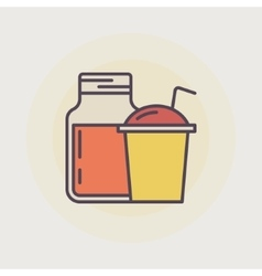 Smoothie jar and smoothie cup vector image