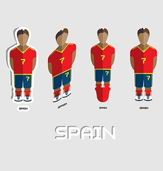 Spain Soccer Team Sportswear Template vector