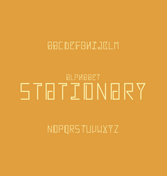 stationary alphabet letters vector image