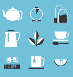 tea preparation icon vector image