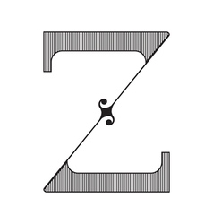 The vintage style letter z vector
