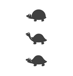 Turtle animal cartoon icon vector