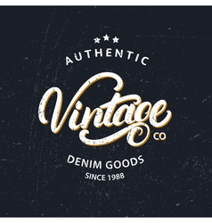 Vintage hand written lettering for label design vector image