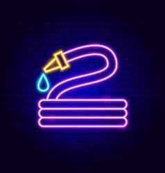 watering hose neon sign vector image